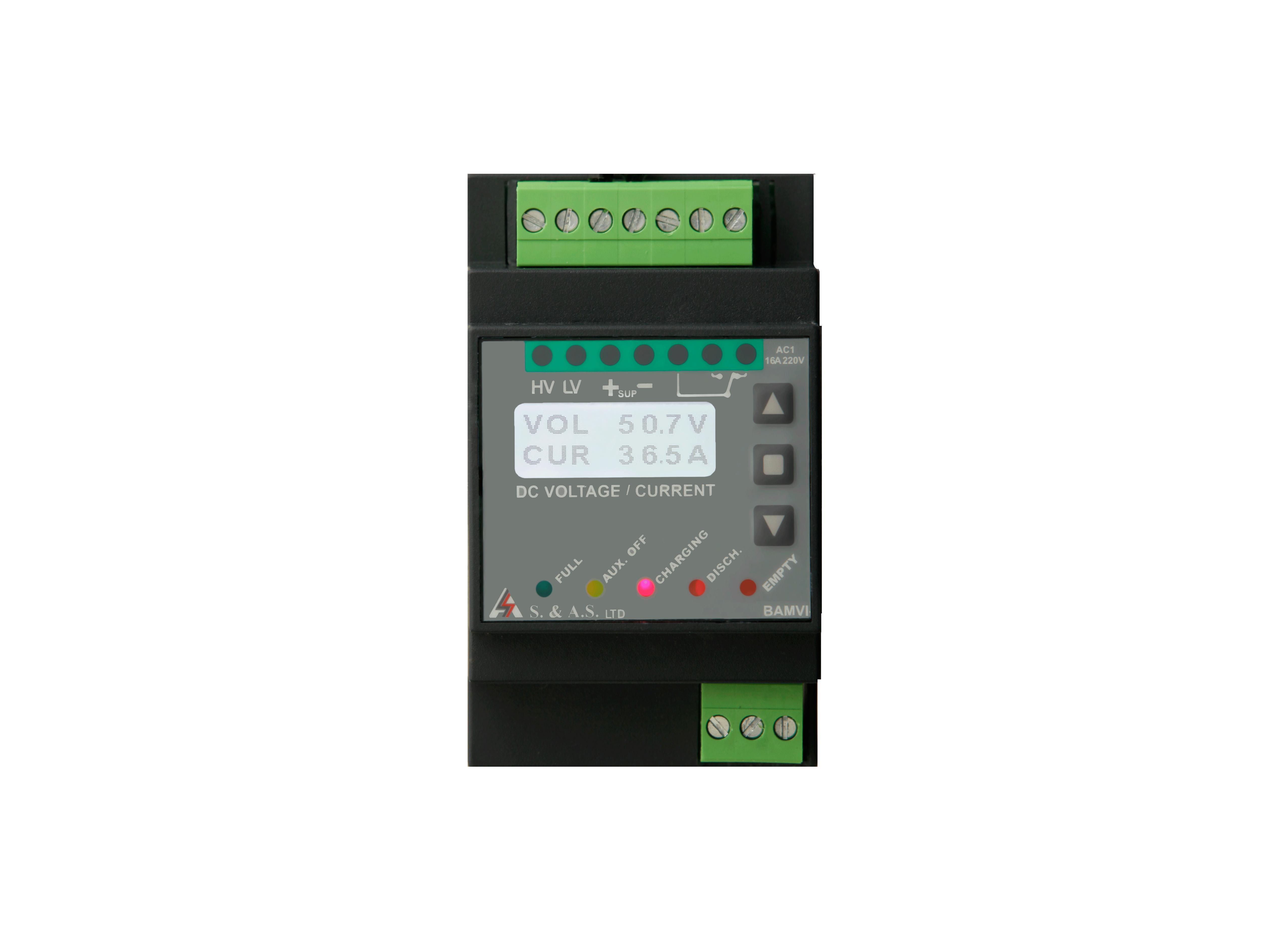 DIGITAL  BATTERY  VOLTAGE  AND  CURRENT  MONITOR</br>BAMVI  V1.1 / STD